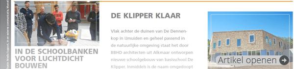 Ter info Tervoort Egmond: In de schoolbanken voor luchtdicht bouwen (juni 2014)